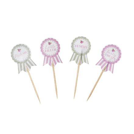 Frills & Spills Cupcake Picks/Food Flags - 20 Cake Flags